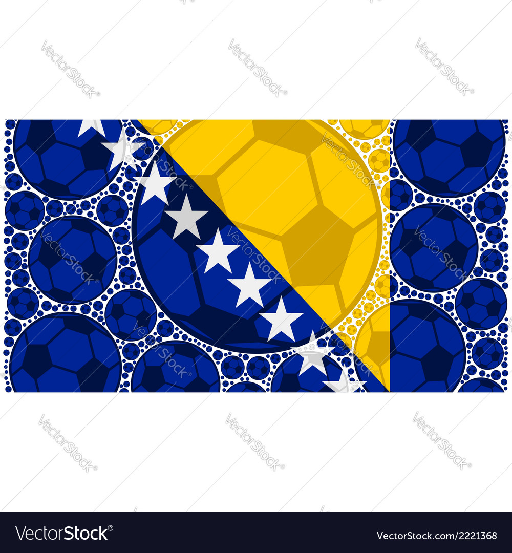Bosnia and herzegovina soccer balls vector | Price: 1 Credit (USD $1)