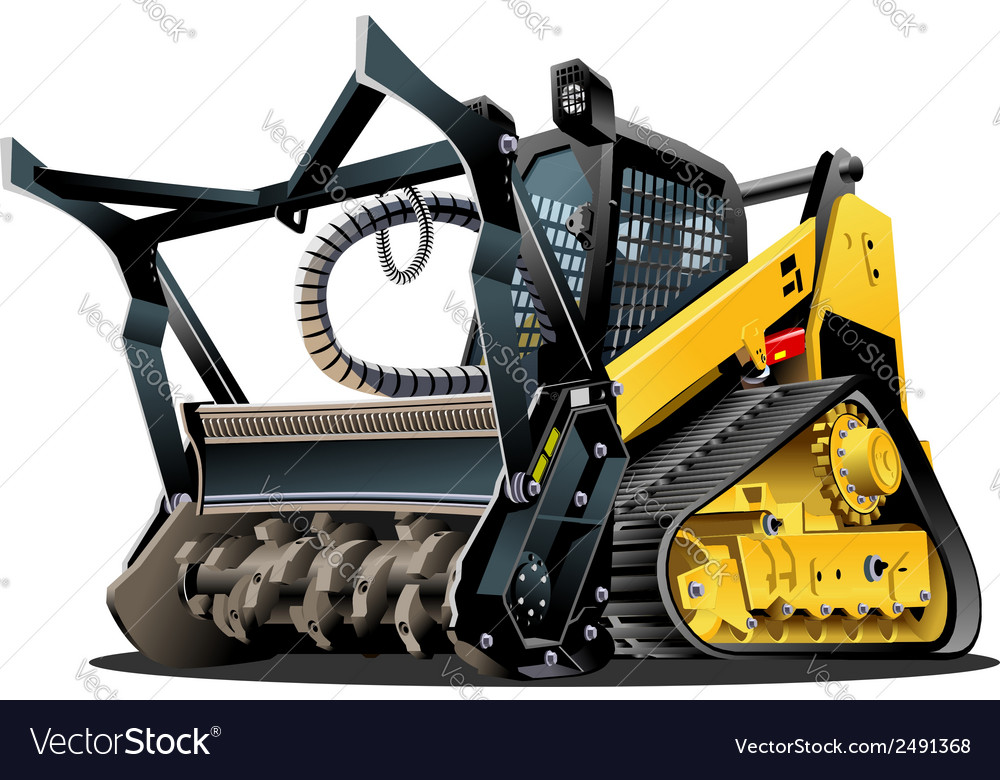 Cartoon land clearing mulcher vector | Price: 3 Credit (USD $3)
