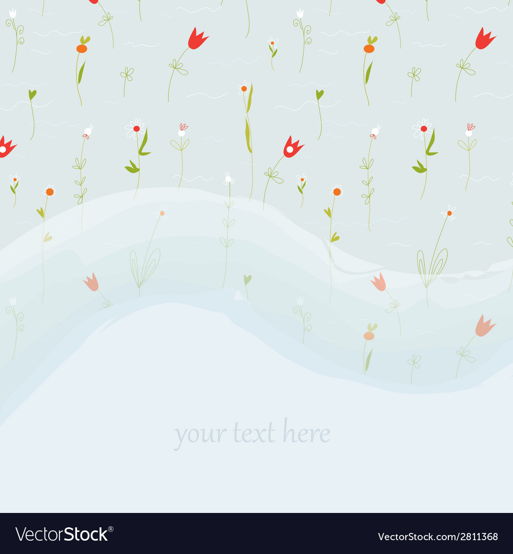Elegant floral greeting card for wedding or vector | Price: 1 Credit (USD $1)