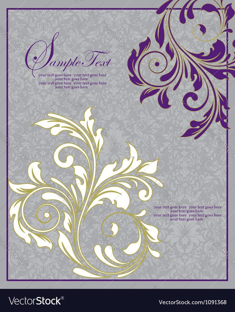 Floral wedding invitation card vector | Price: 1 Credit (USD $1)