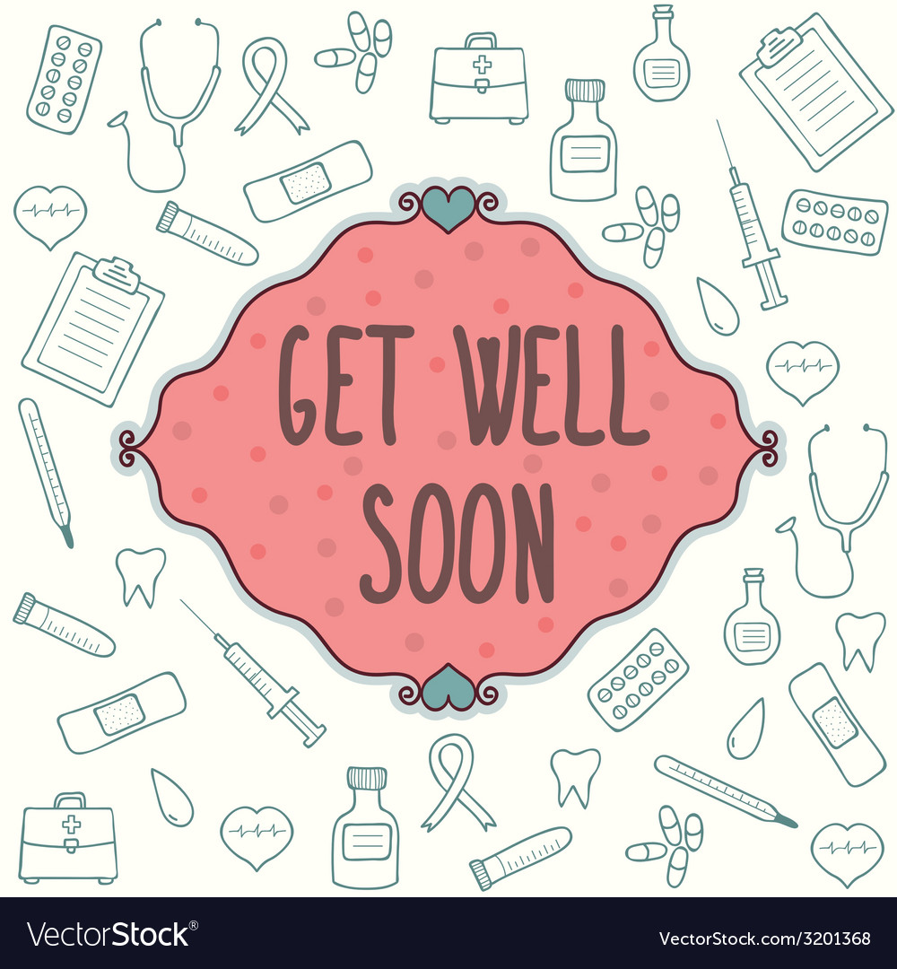Get well soon card vector | Price: 1 Credit (USD $1)