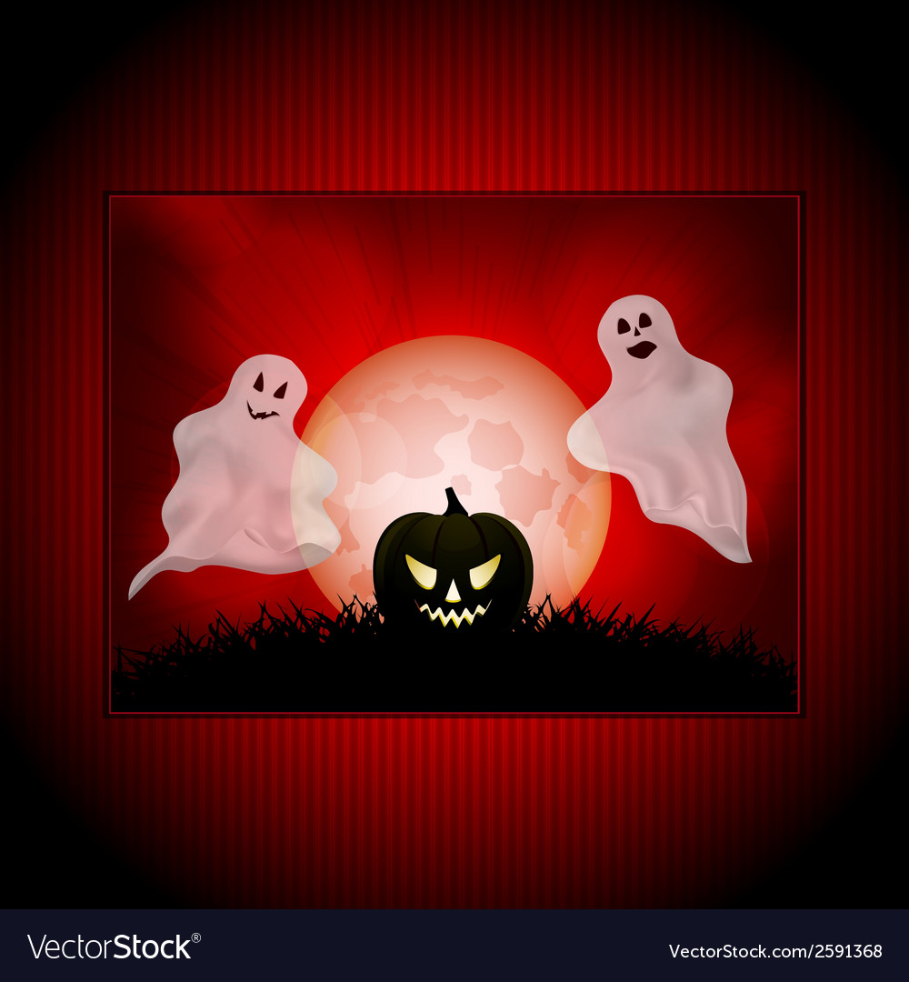 Halloween ghost panel background vector | Price: 1 Credit (USD $1)