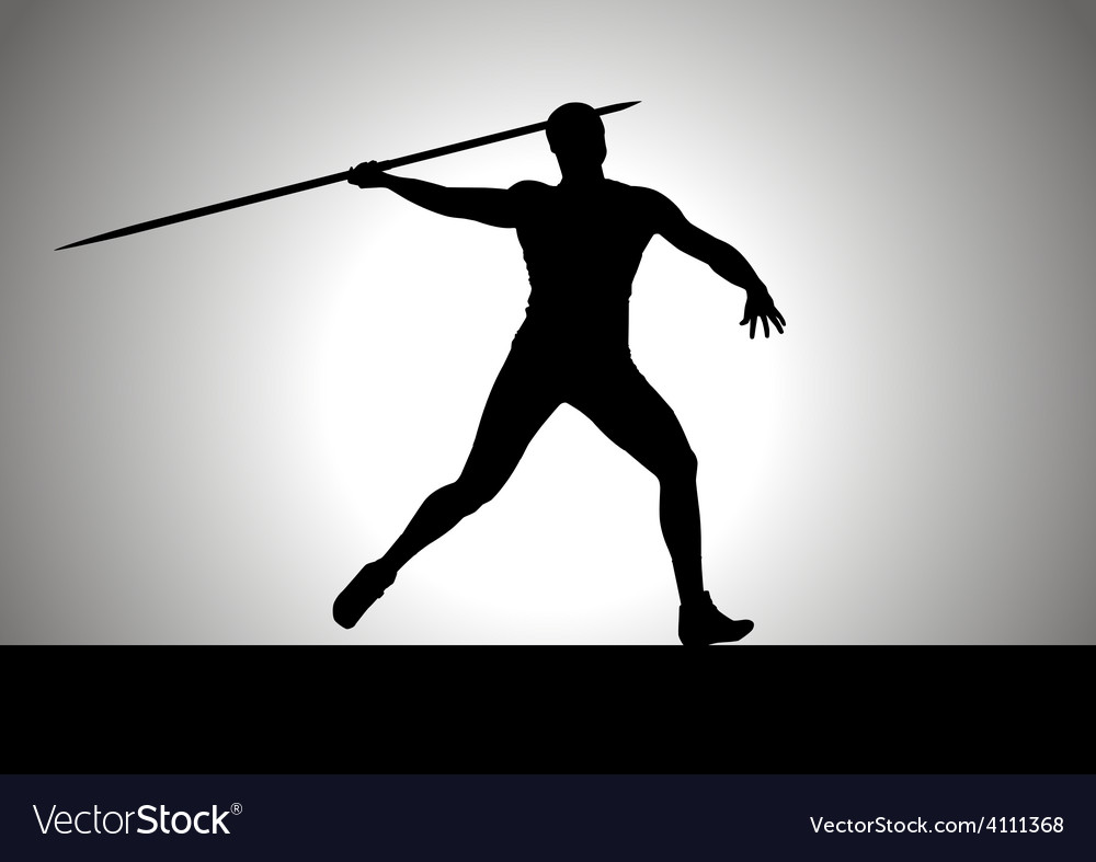Javelin thrower vector | Price: 1 Credit (USD $1)
