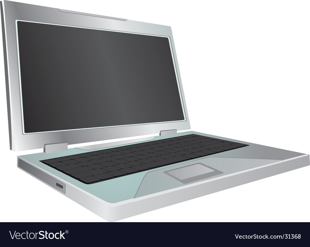 Laptop on white background illustrati vector | Price: 1 Credit (USD $1)