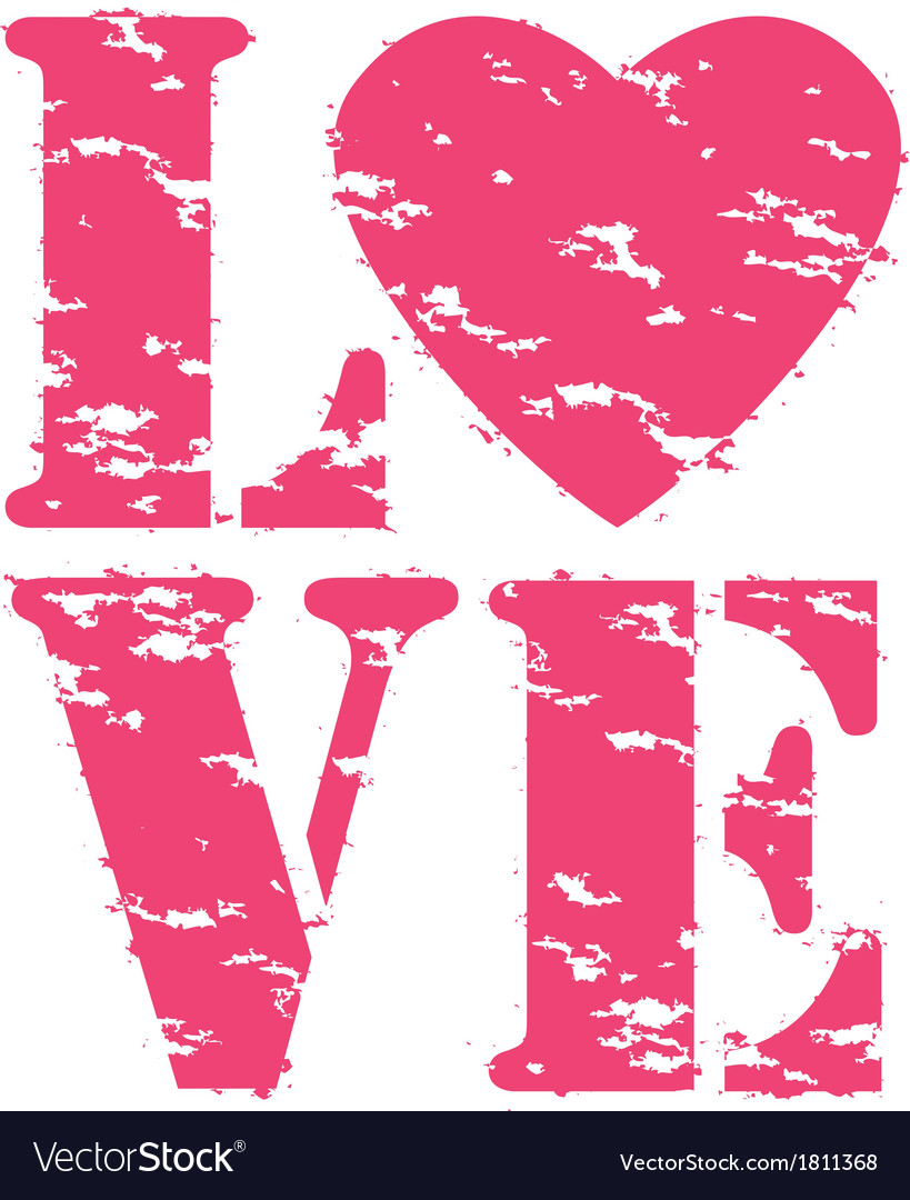 Love grunge rubber stamp vector | Price: 1 Credit (USD $1)