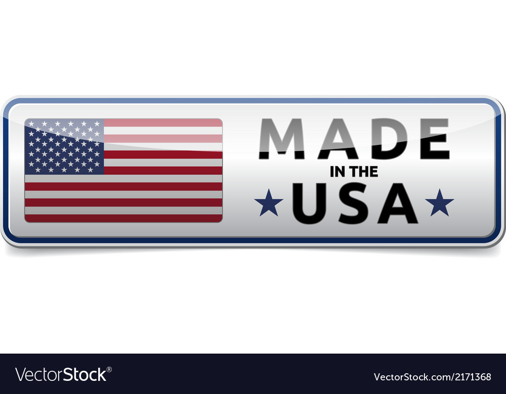 Made in usa flag button banner vector | Price: 1 Credit (USD $1)