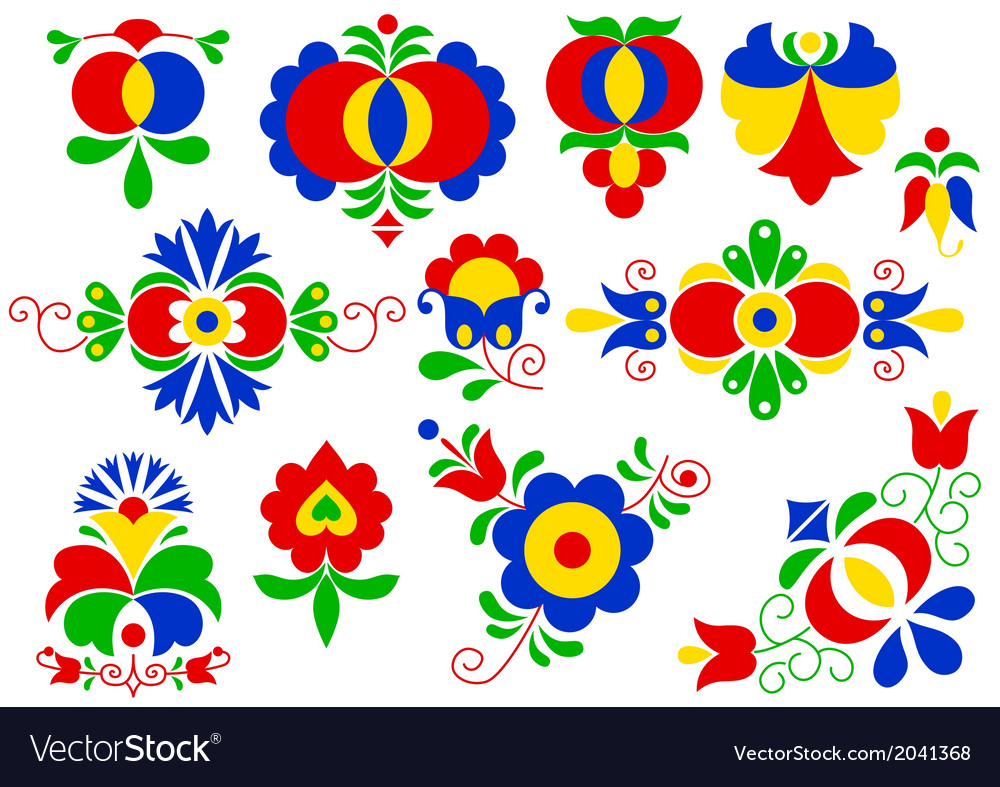 Moravian folk ornaments vector | Price: 1 Credit (USD $1)