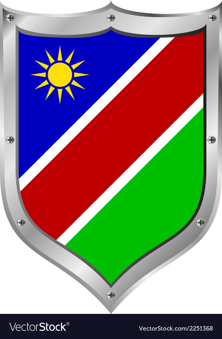 Namibia flag button vector | Price: 1 Credit (USD $1)