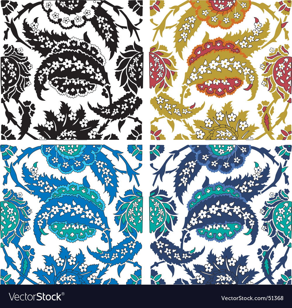 Paisley floral elements vector   Price: 1 Credit (USD $1)