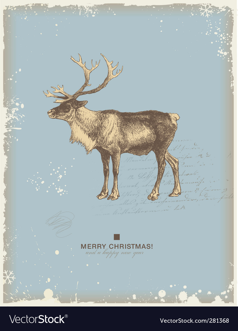 Reindeer vector | Price: 1 Credit (USD $1)