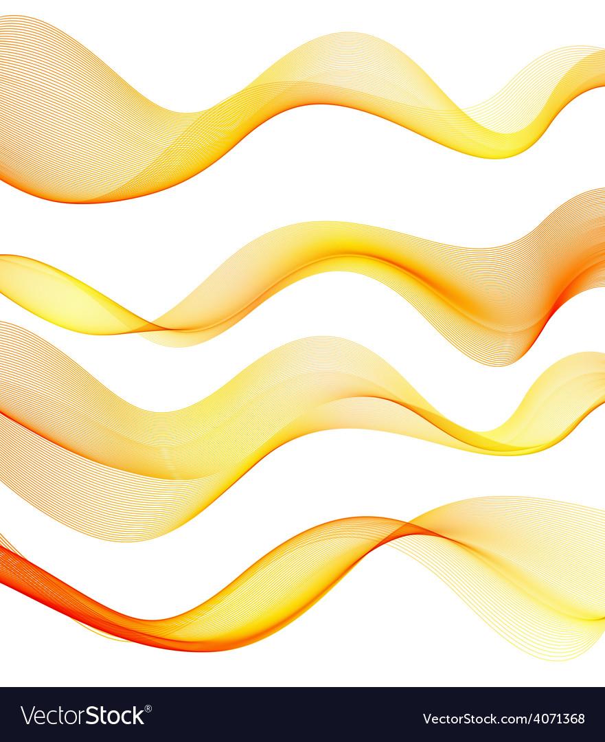 Set of orange transparent smoke wave vector   Price: 1 Credit (USD $1)
