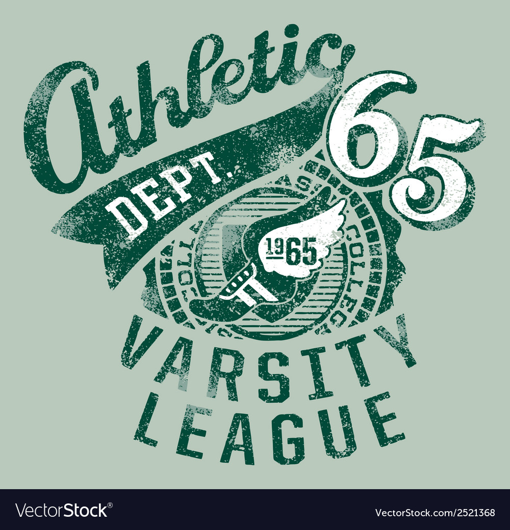 Varsity athletics vector | Price: 3 Credit (USD $3)