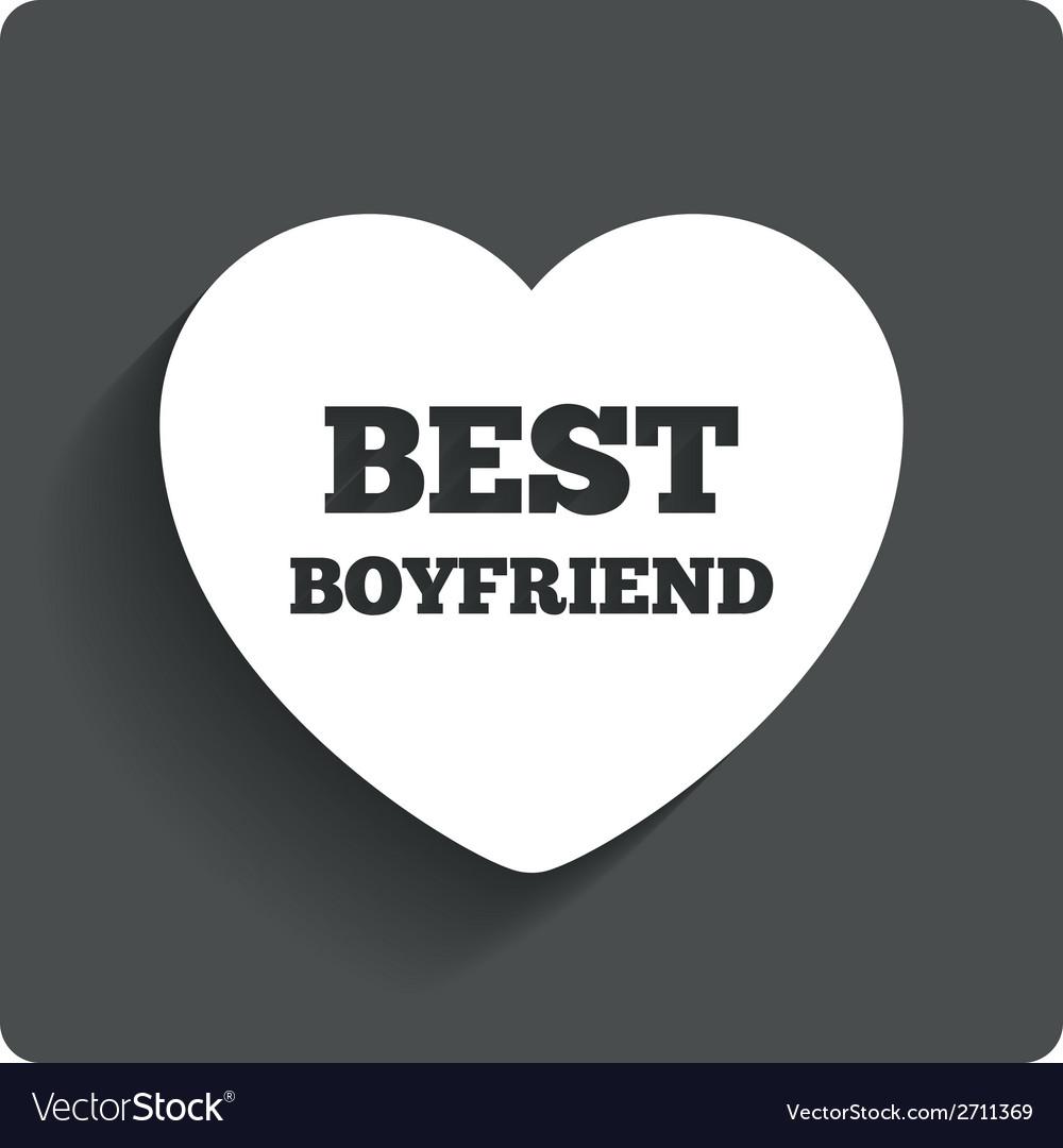 Best boyfriend sign icon heart love symbol vector   Price: 1 Credit (USD $1)