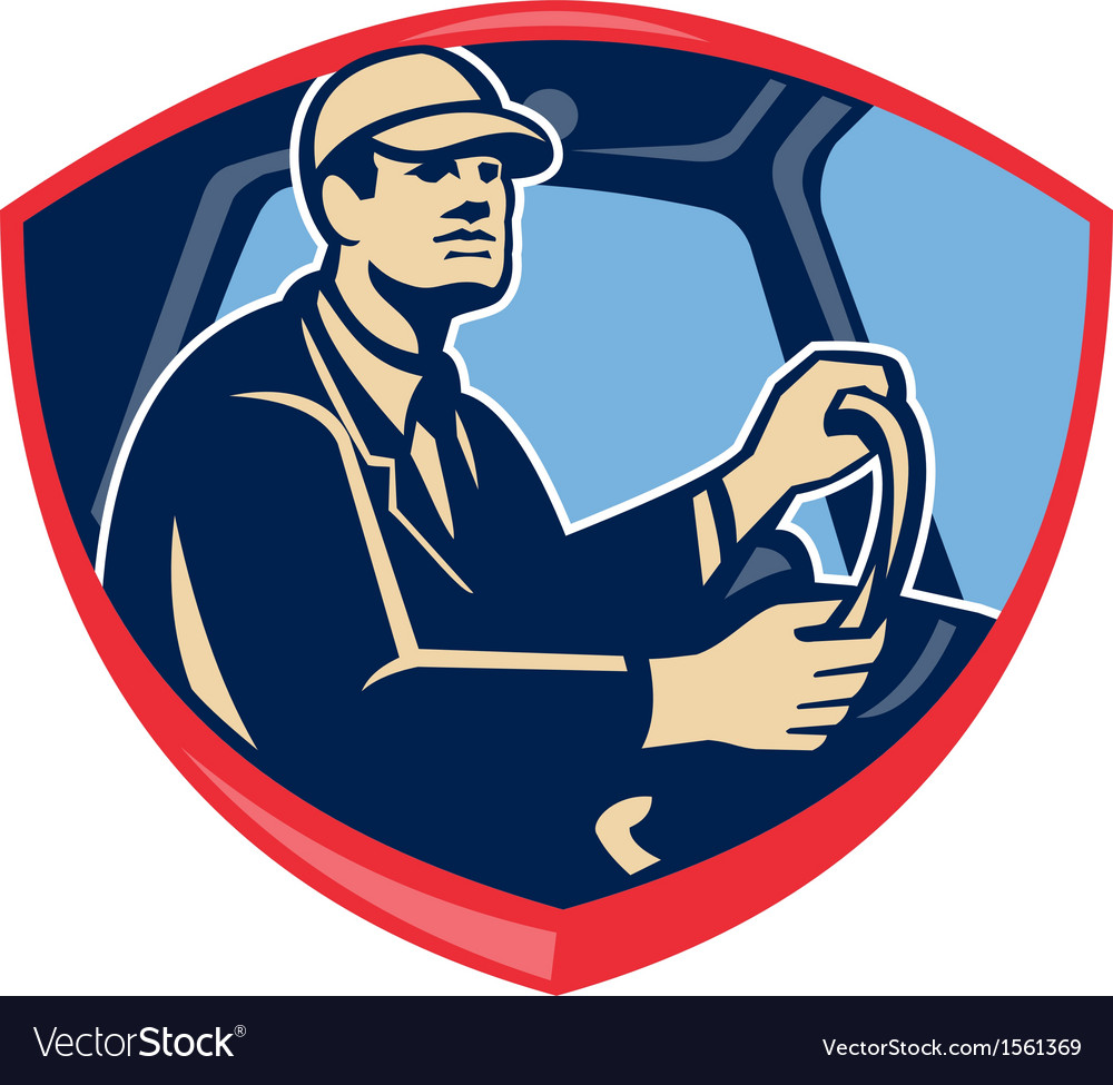 Bus truck driver side shield vector | Price: 1 Credit (USD $1)