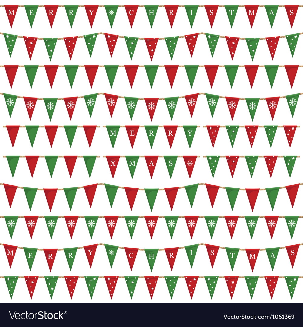 Christmas bunting pack vector | Price: 1 Credit (USD $1)