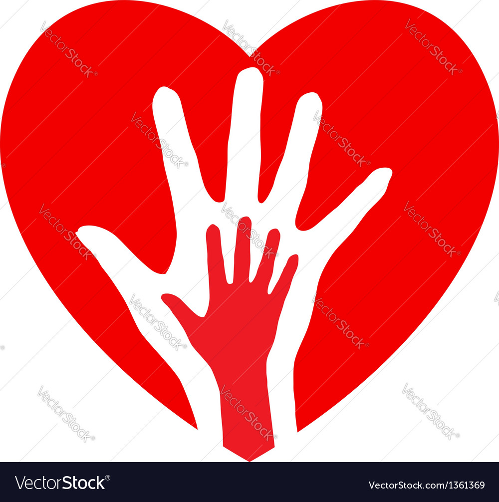 Hands and heart vector | Price: 1 Credit (USD $1)