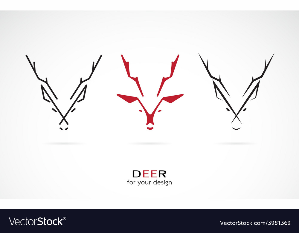 Image of an deer design vector | Price: 1 Credit (USD $1)