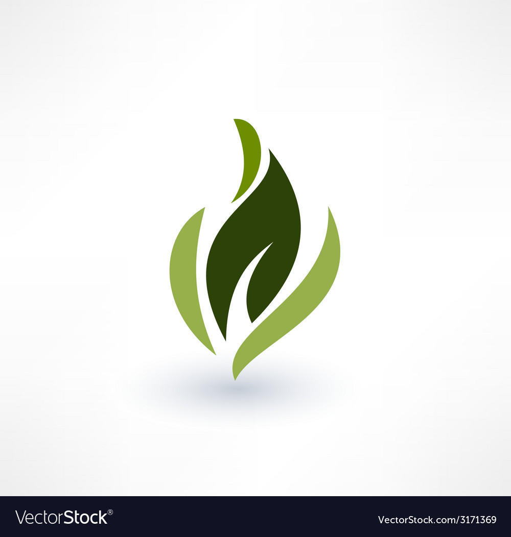 Leaf icons eco concept logo design vector | Price: 1 Credit (USD $1)