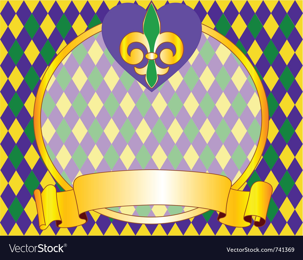 Mardi gras background design with place for text vector | Price: 1 Credit (USD $1)