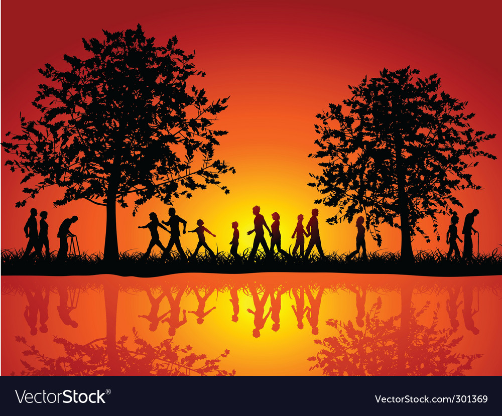 Nature silhouette vector | Price: 1 Credit (USD $1)