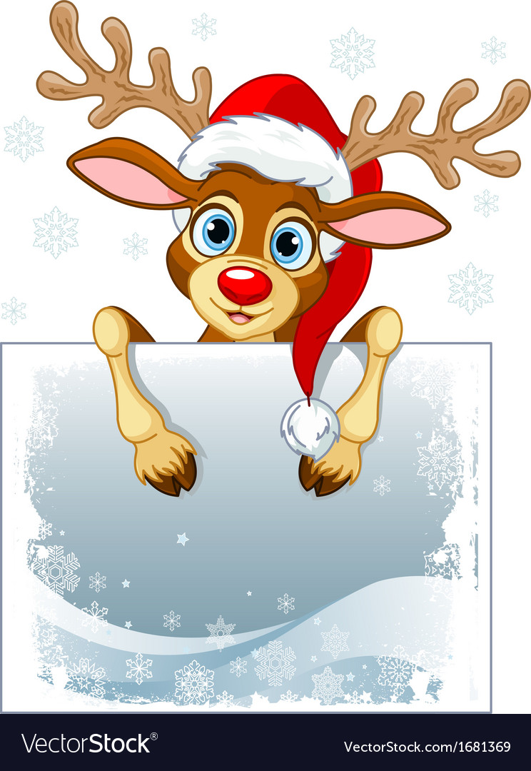 Reindeer sign vector | Price: 1 Credit (USD $1)