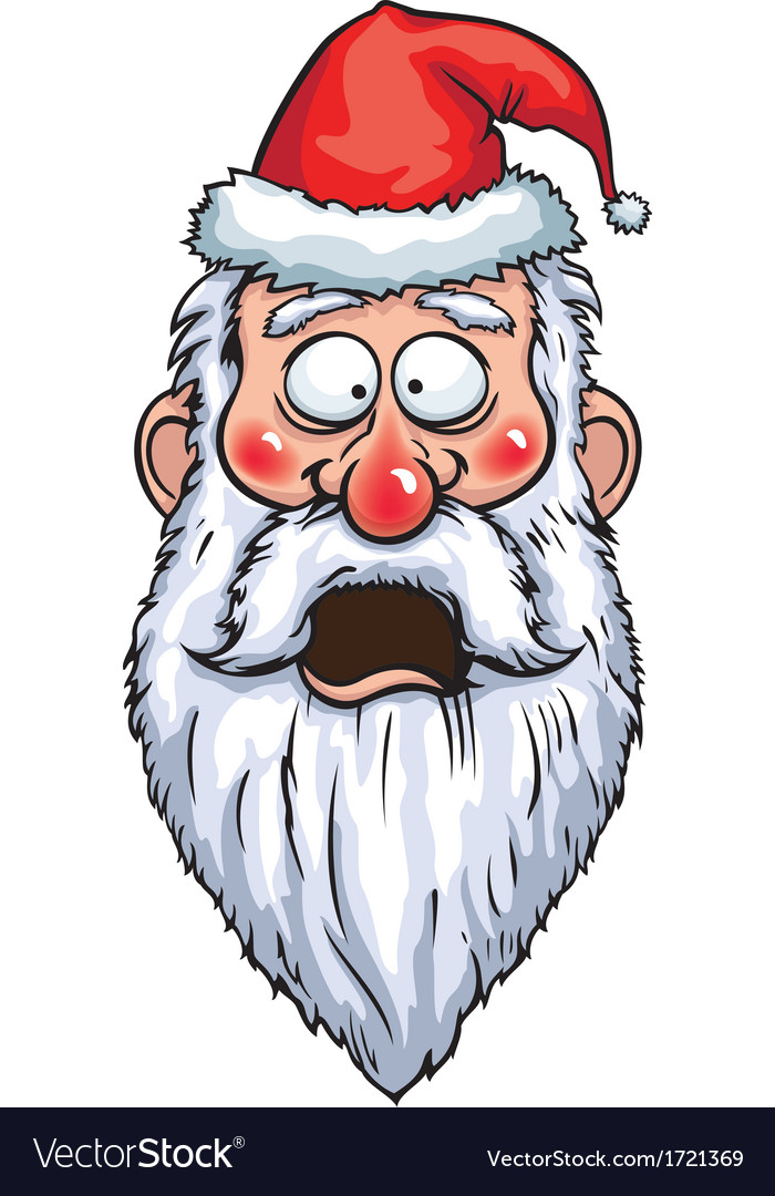 Santa claus shocked head vector | Price: 1 Credit (USD $1)