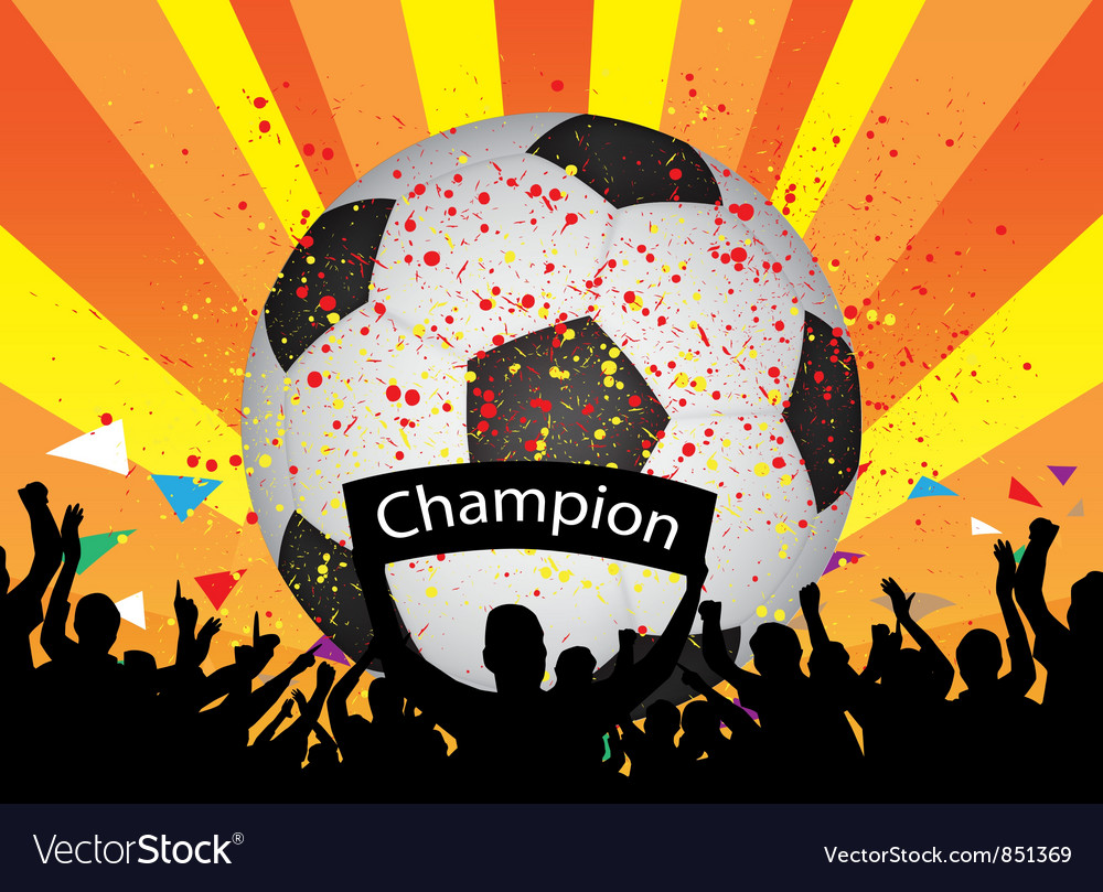 Soccer celebration vector | Price: 1 Credit (USD $1)