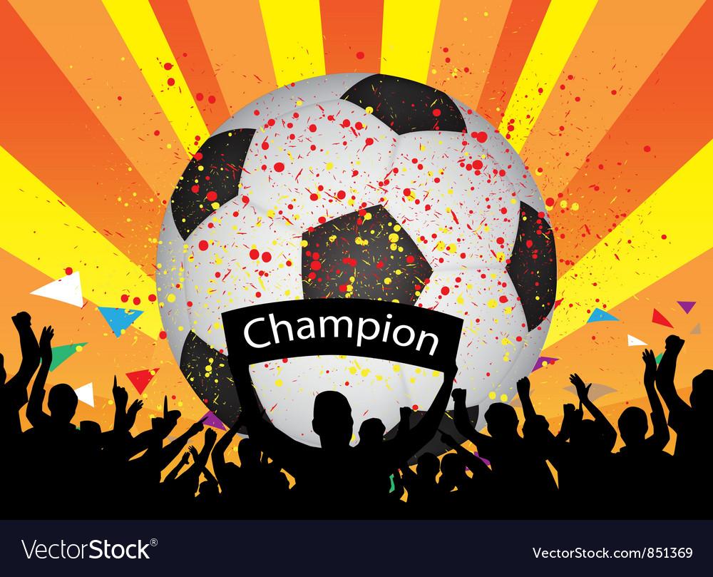 Soccer celebration vector | Price: 1 Credit (USD $1)