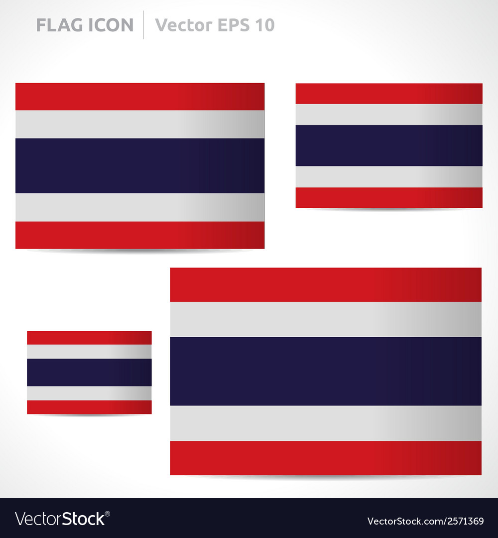Thailand flag template vector | Price: 1 Credit (USD $1)