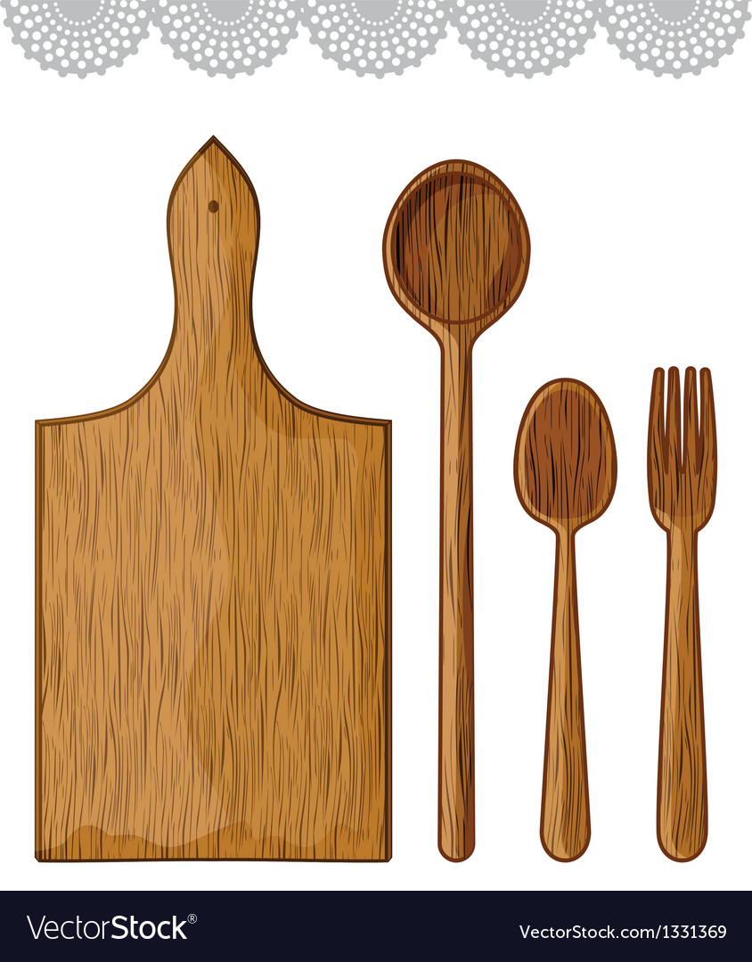 Wooden kitchen utensils vector | Price: 1 Credit (USD $1)