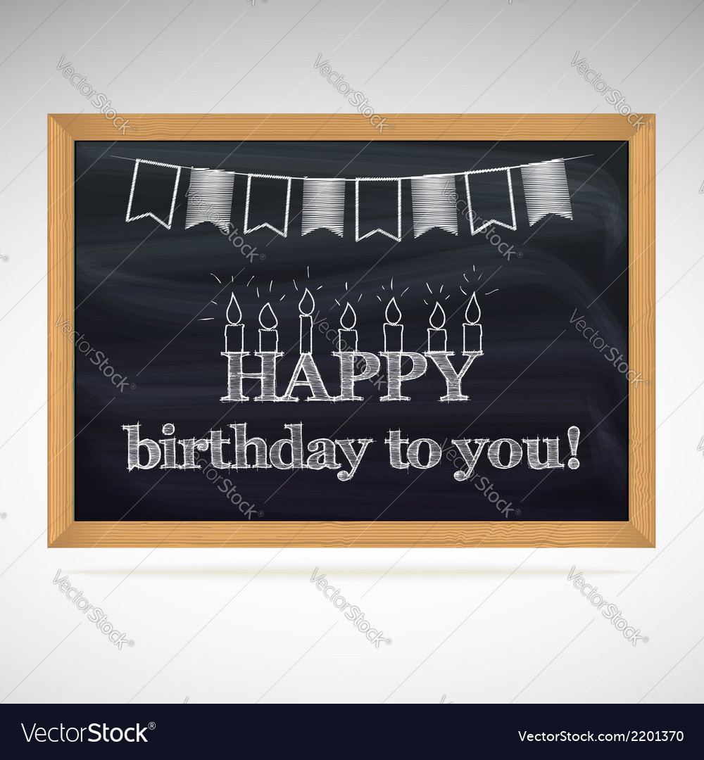 Birthday greetings on schoolboard vector | Price: 1 Credit (USD $1)