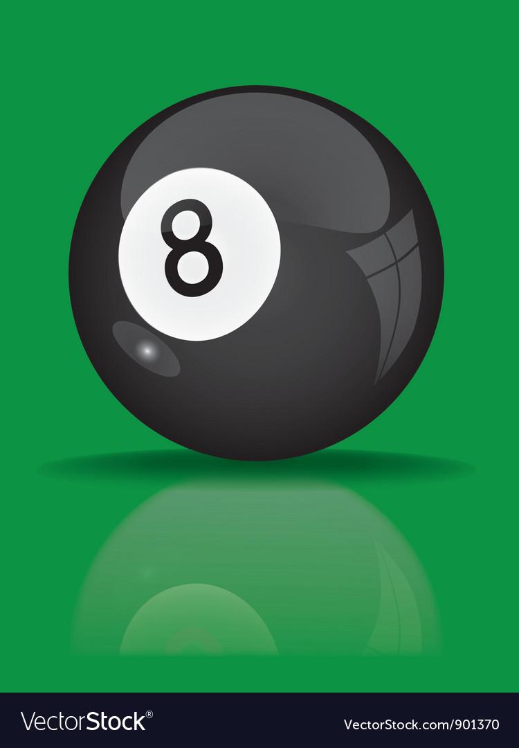 Black billiard ball vector | Price: 1 Credit (USD $1)