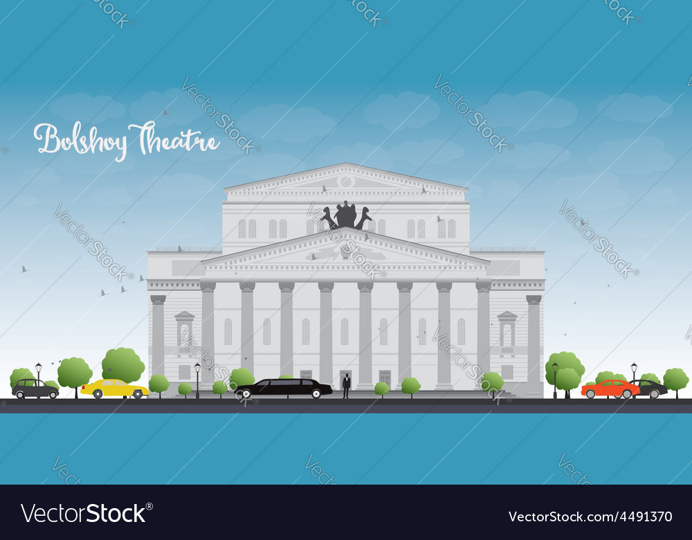 Bolshoy theatre moscow vector | Price: 3 Credit (USD $3)