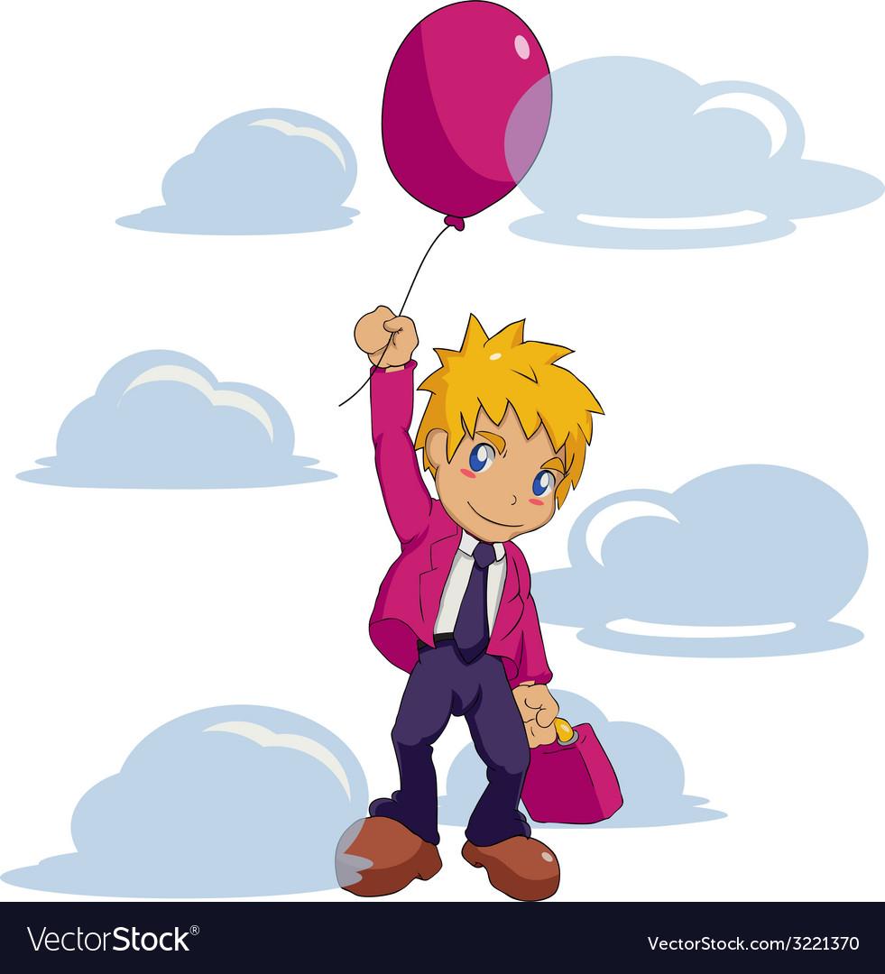 Businessman balloon vector   Price: 1 Credit (USD $1)
