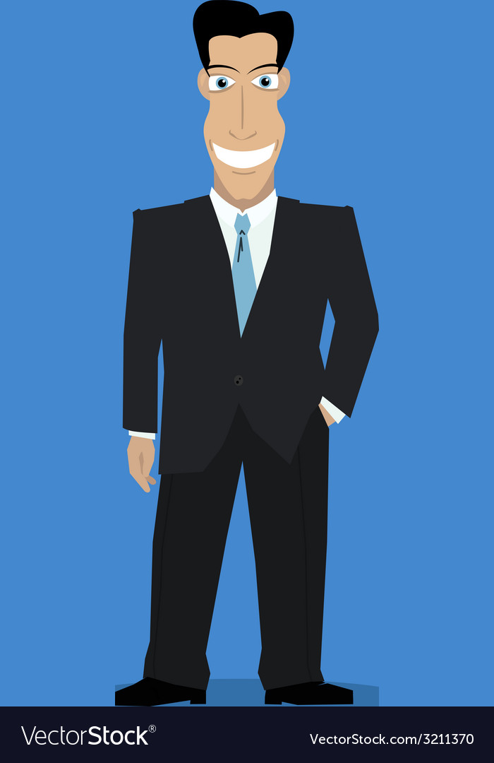 Businessman color vector | Price: 1 Credit (USD $1)