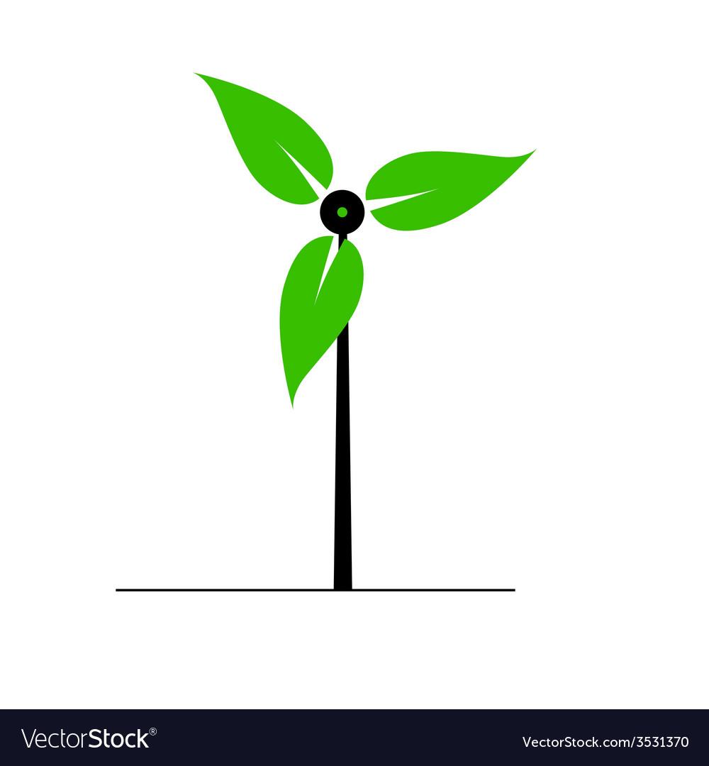 Eco windmill icon vector | Price: 1 Credit (USD $1)