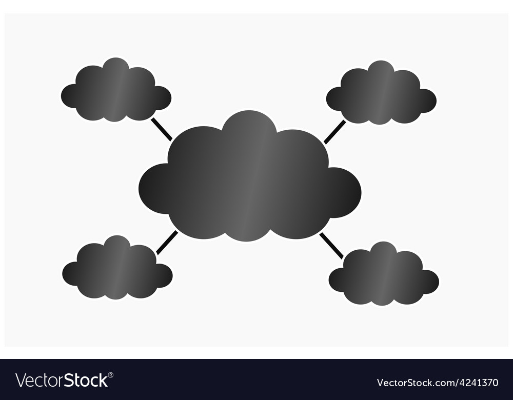 Infographic black clouds vector | Price: 1 Credit (USD $1)