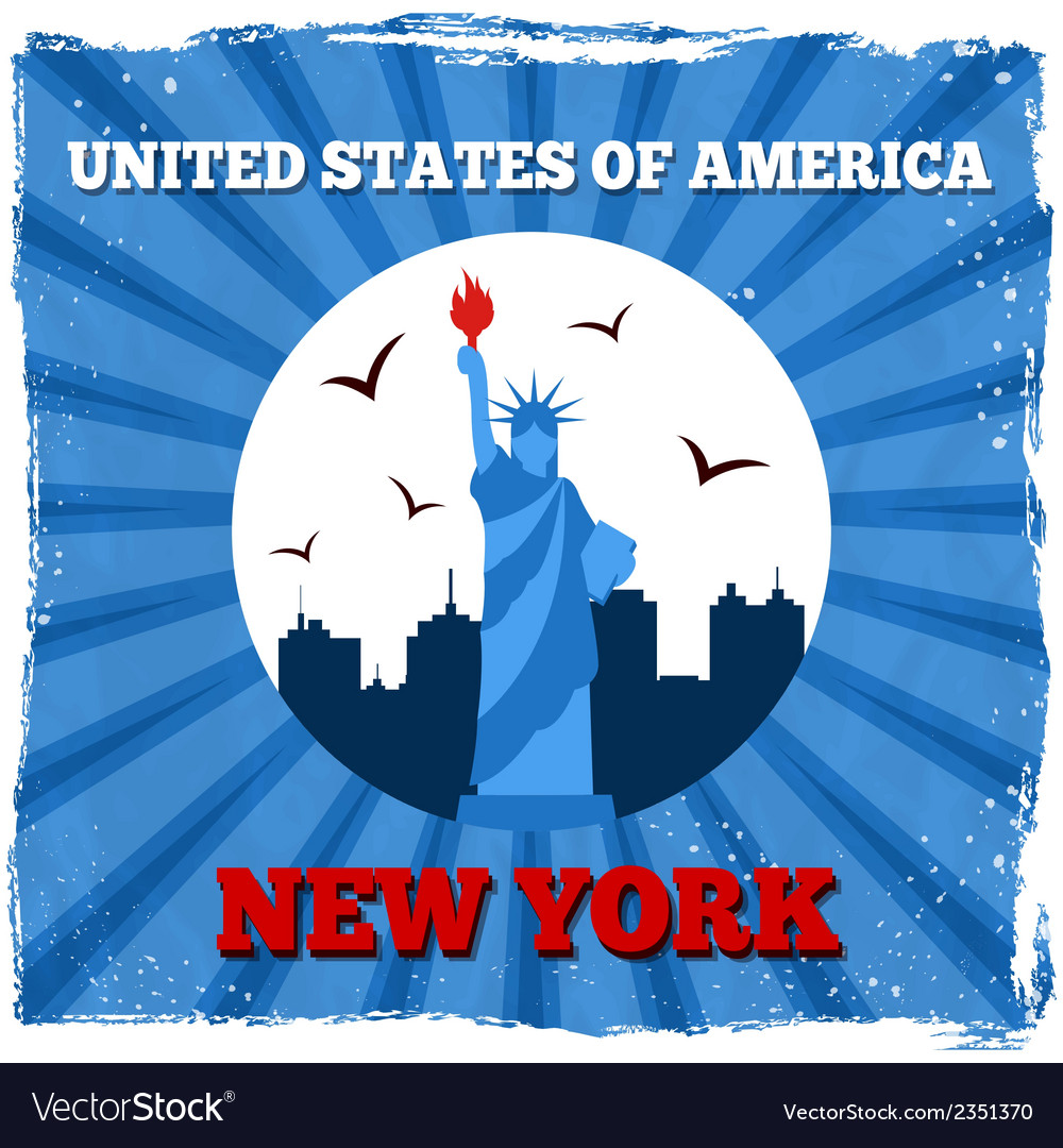 New york usa retro poster vector | Price: 1 Credit (USD $1)