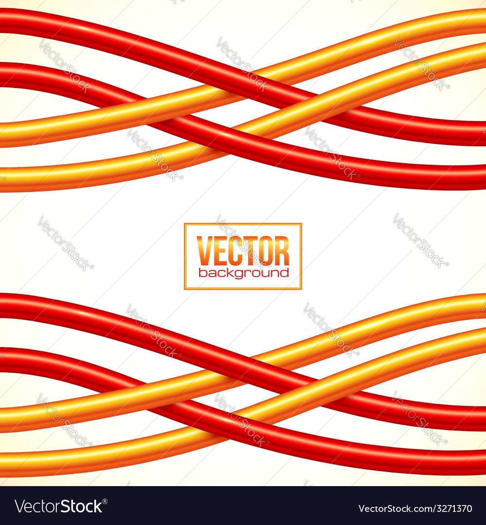 Red and orange crossed cables background vector | Price: 1 Credit (USD $1)