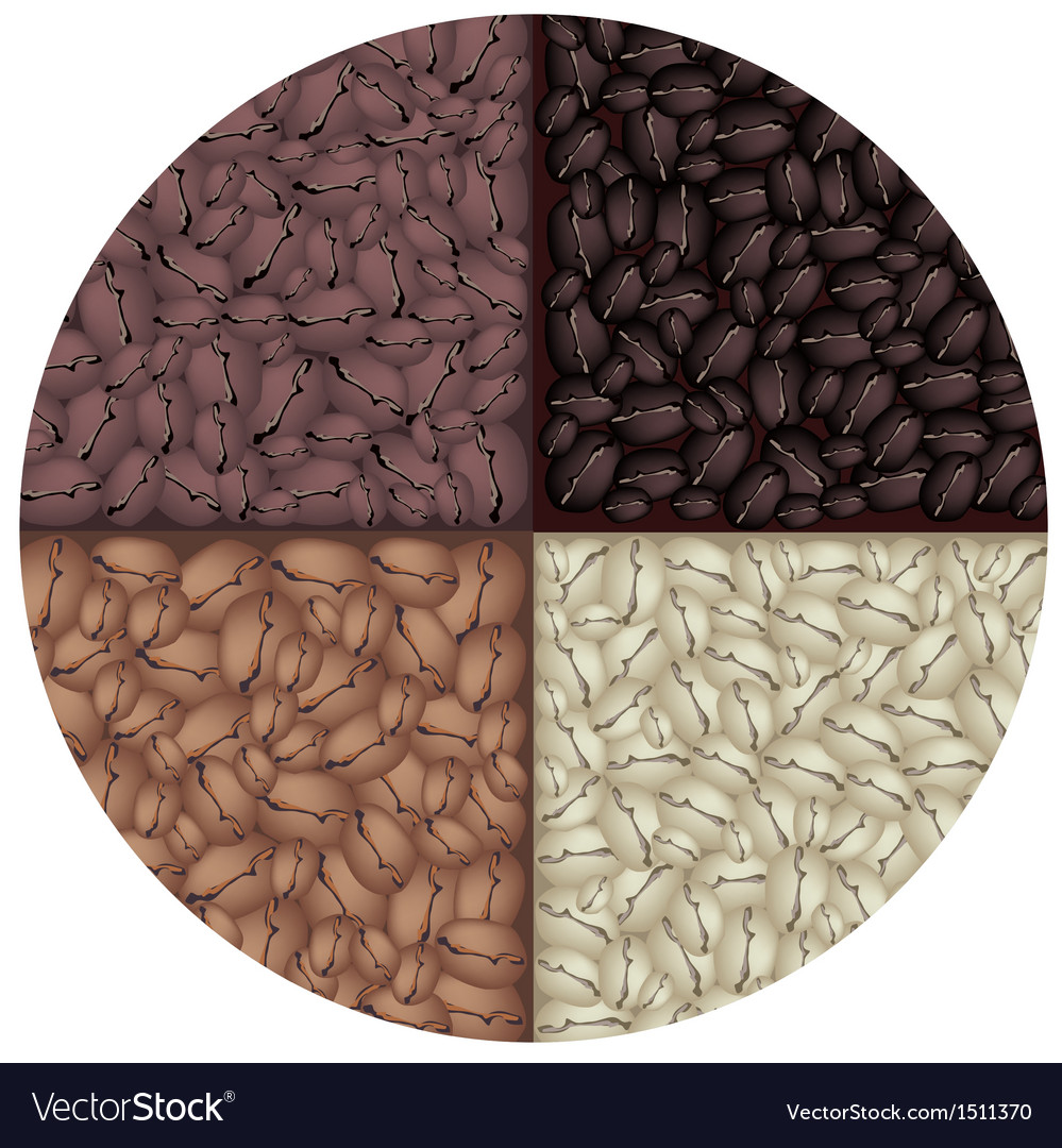 Roasted coffee circle background vector | Price: 1 Credit (USD $1)