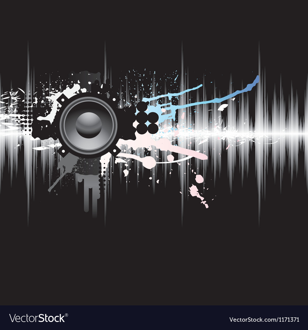 Abstract grunge music background vector | Price: 1 Credit (USD $1)