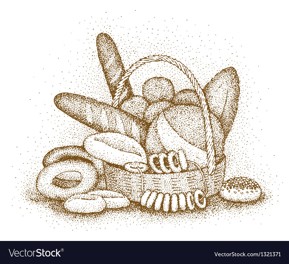 Bakery products hand-drawn vector | Price: 1 Credit (USD $1)