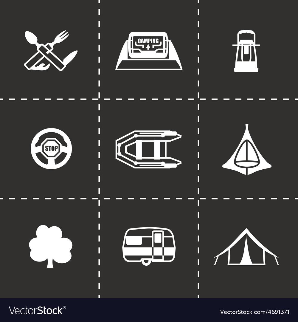 Camping icon set vector | Price: 1 Credit (USD $1)