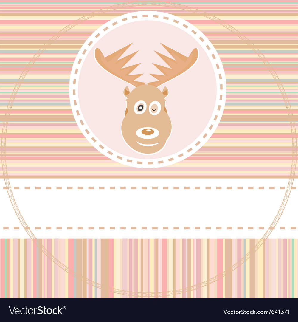 Cute deer face vector | Price: 1 Credit (USD $1)