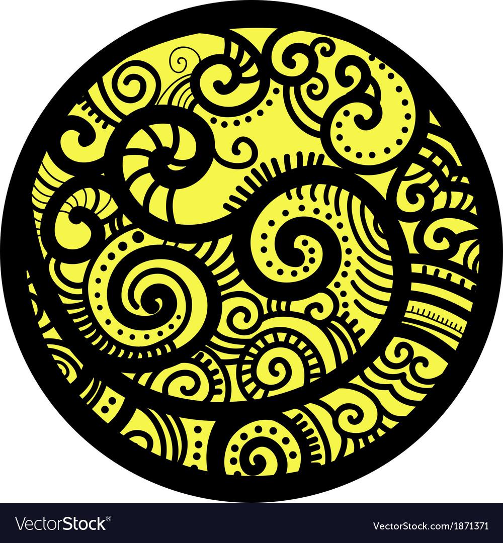 Decorative round vector | Price: 1 Credit (USD $1)