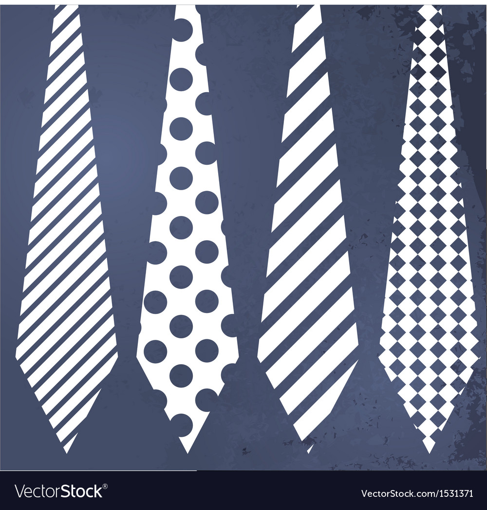 Fathers day grunge blue background with ties vector | Price: 1 Credit (USD $1)