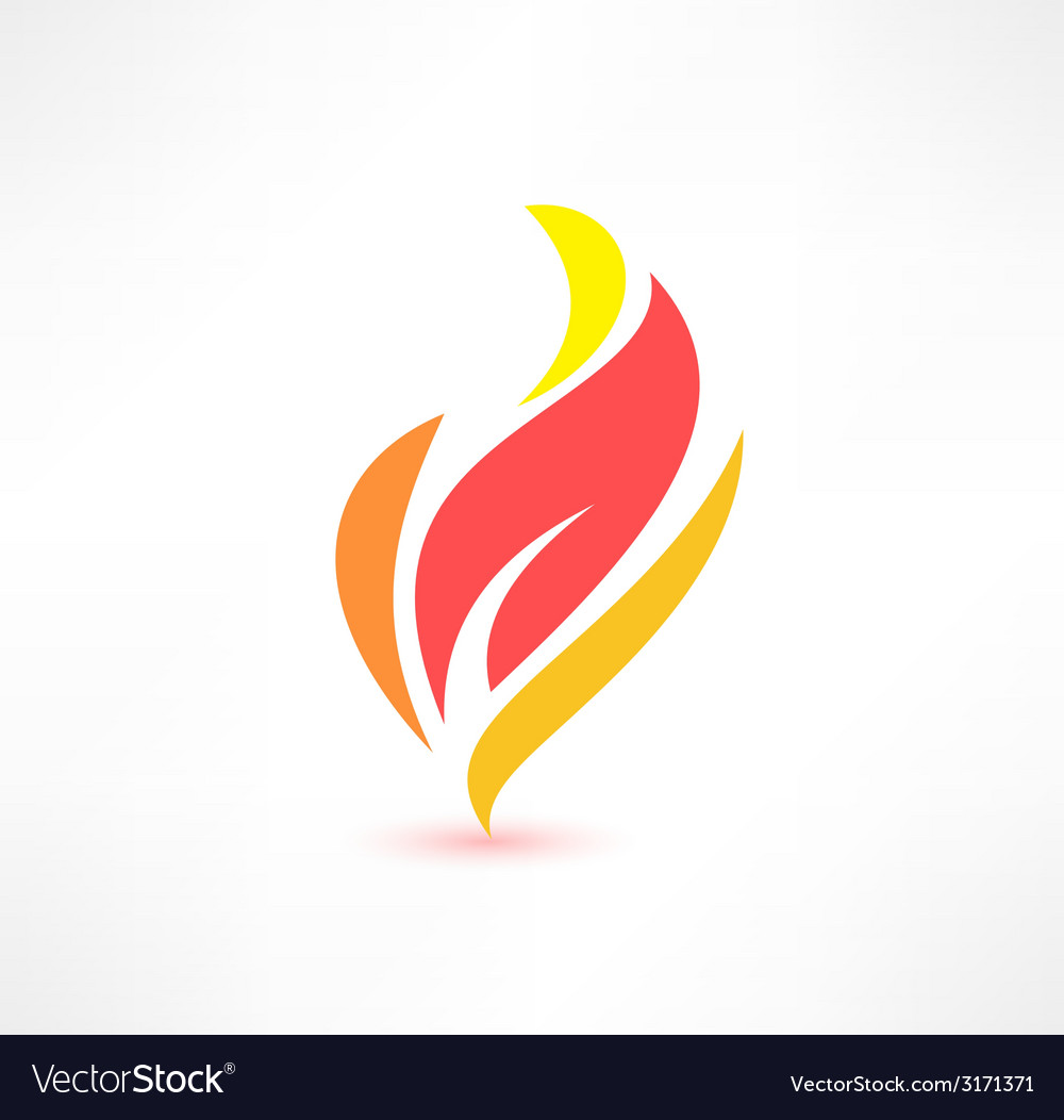 Fire icon the energy concept logo design vector | Price: 1 Credit (USD $1)