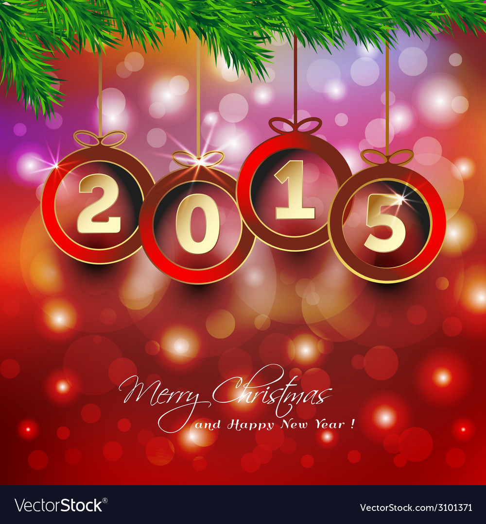 Happy new year 2015 background with christmas vector | Price: 1 Credit (USD $1)