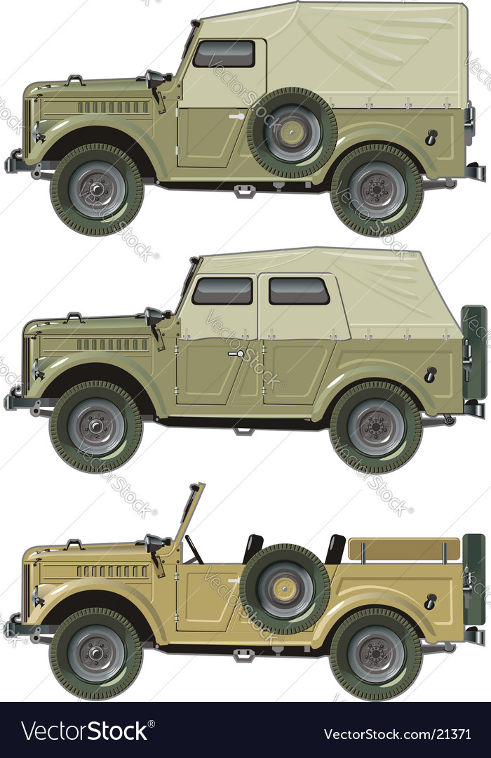Retro jeep set vector | Price: 5 Credit (USD $5)