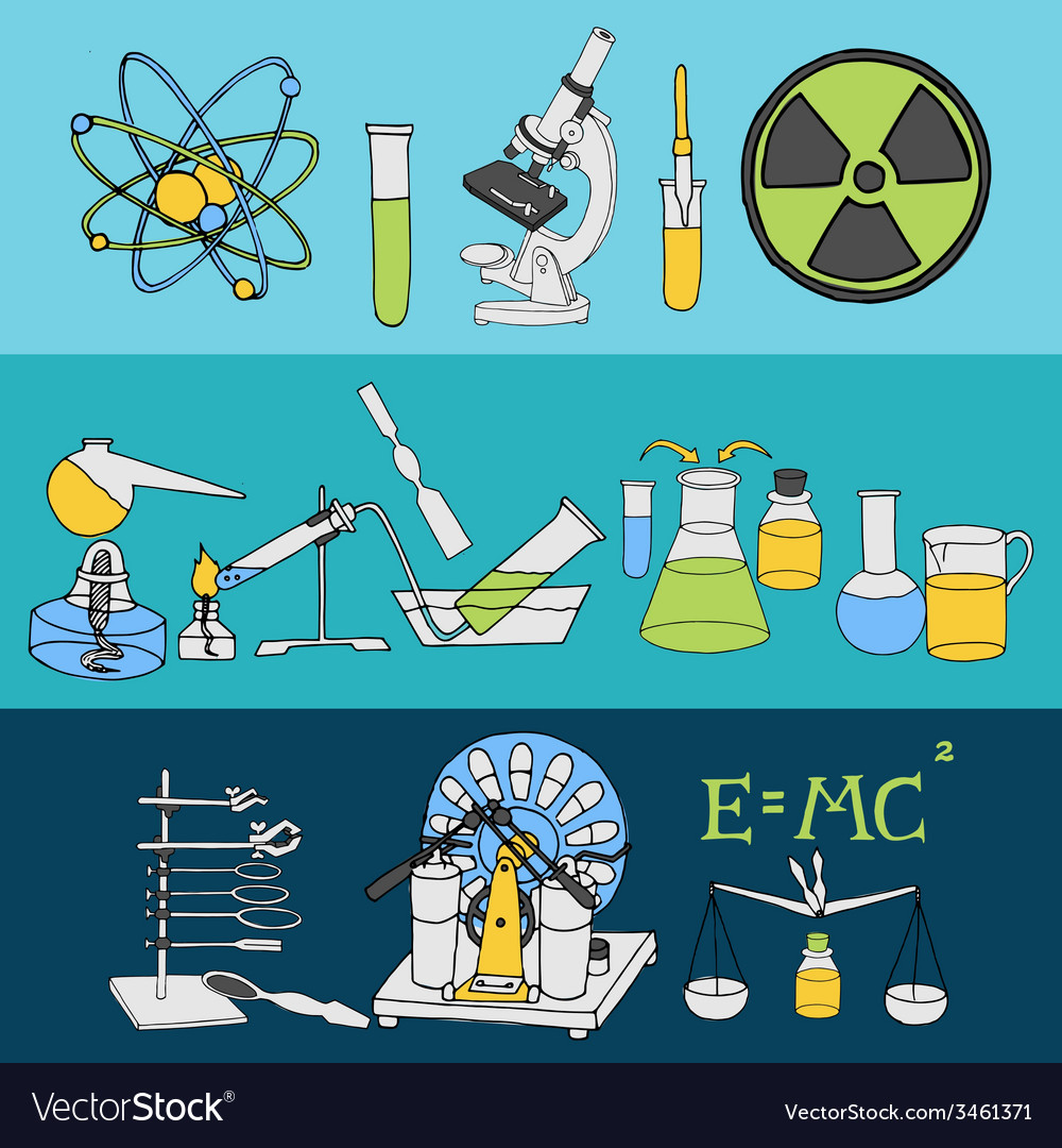 Science sketch banners vector | Price: 1 Credit (USD $1)
